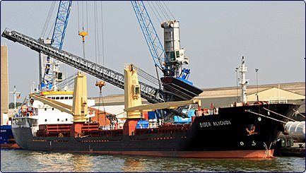 Commissioning ship unloader